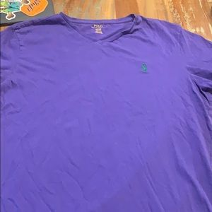 Polo Ralph Lauren purple v-neck tee
